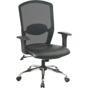 Office Star ™, High Screen-Back Mesh Manager's Chair with Chrome Base, Black