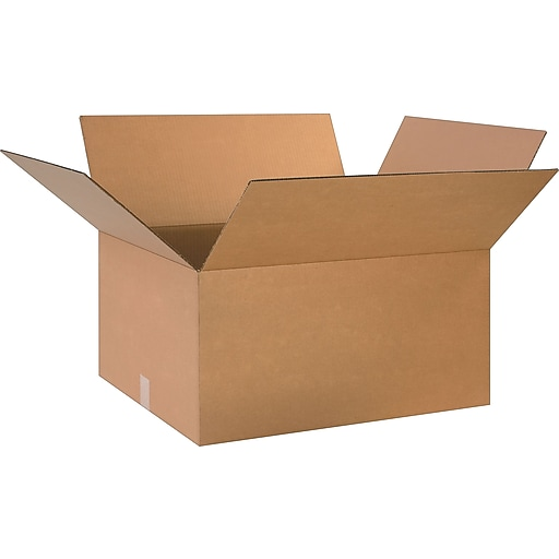 """24"""" x 20"""" x 12"""" Shipping Boxes, 32 ECT, Brown, 20/Bundle (BS242012)"""