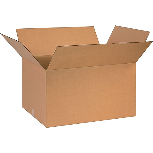 """26"""" x 18"""" x 14"""" Shipping Boxes, 32 ECT, Brown, 20/Bundle (BS261814)"""