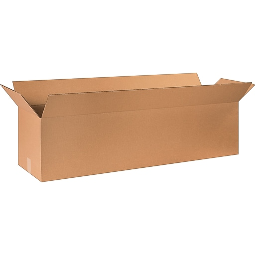 """48"""" x 12"""" x 12"""" Shipping Boxes, 32 ECT, Brown, 20/Bundle (BS481212)"""