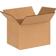 "6 (L) x 4 (W) x 4 (H)"" Shipping Boxes, 32 ECT, Brown, 25/Bundle (PRA0007)"
