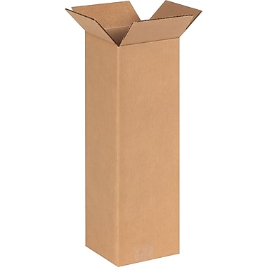 6''x6''x18'' Staples Corrugated Shipping Box, 25/Bundle (6618)