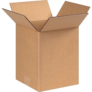 8''x8''x10'' Staples Corrugated Shipping Box, 25/Bundle (8810)