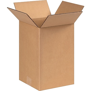8''x8''x12'' Staples Corrugated Shipping Box, 25/Bundle (8812)
