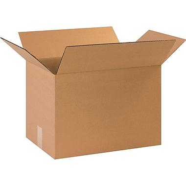 Boîtes en carton ondulé, 17 1/2 po x 11 1/4 po x 12 po, lot de 25