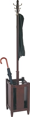 Office Coat Tree Intended Httpswwwstaples3pcoms7is Office Star Espresso Wood Coat Tree With Umbrella Stand Staples