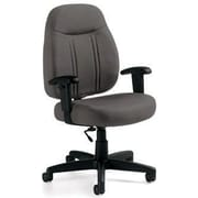 "Global High-Back Task Chair, Slate, 40""H x 24""W x 25""D"