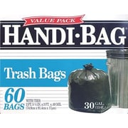 Webster® Handi-Bag Recycled Trash Bags, Black, 30 Gallon, 60 Bags/Box
