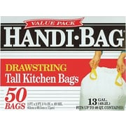 Webster® Handi-Bag Recycled Trash Bags, White, 13 Gallon, 50 Bags/Box