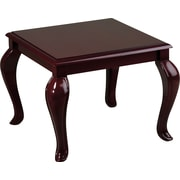 Office Star Products Queen Anne Wood End Table, Mahogany, Each (TBB2020)