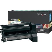 Lexmark C7720YX Yellow Toner Cartridge, Extra High Yield Return Program