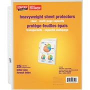 Staples Clear Multi-Page Capacity Sheet Protectors, 25-Pack