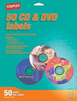Étiquettes pour CD/DVD