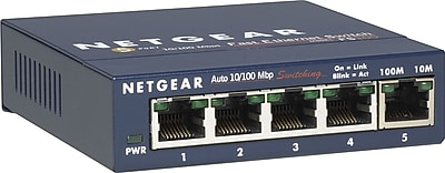 NETGEAR® ProSAFE 5-Port Fast Ethernet Switch (FS15NA)