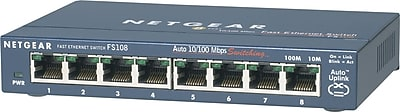 NETGEAR ProSAFE FS108 8-Port Fast Ethernet Desktop Switch
