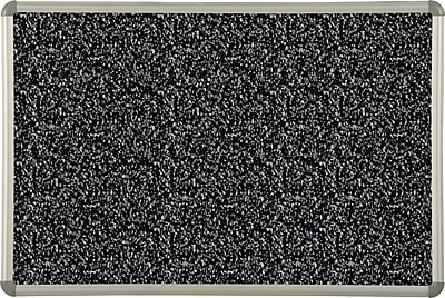 Best-Rite Euro Trim Recycled Rubber-Tak® Bulletin Board, Black Panel / Aluminum Frame, 8'W x 4'H