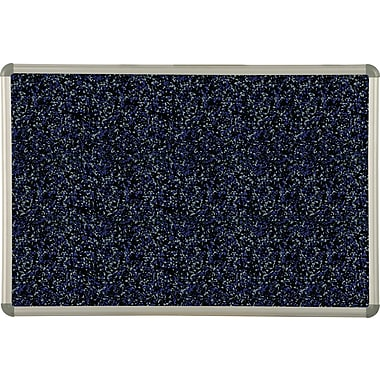 Best-Rite Blue Rubber-Tak Bulletin Board, Euro Trim Frame, 3' x 2'