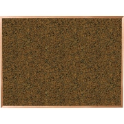 Best-Rite Blue Splash Cork Bulletin Board, Oak Finish Frame, 12' x 4'