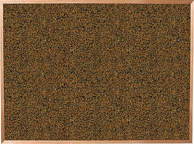 Best-Rite Blue Splash Cork Bulletin Board, Oak Finish Frame, 8' x 4'