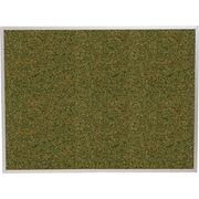 Best-Rite Green Splash Cork Bulletin Board, Aluminum Trim Frame, 4' x 4'