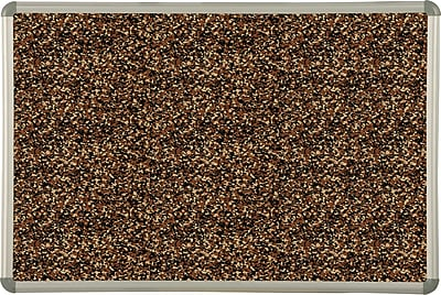 Best-Rite Tan Rubber-Tak Bulletin Boards, Euro Trim Frame, 6' x 4'