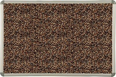 Best-Rite Tan Rubber-Tak Bulletin Boards, Euro Trim Frame, 4' x 4'