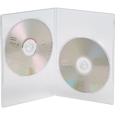 Staples® Double Slim DVD Cases, Clear, 20-Pack