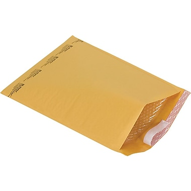 Self-Seal #6 Bubble Mailers, Kraft, 12-3/8