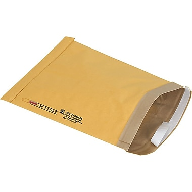 Staples #4 Padded Mailer, Gold Kraft, 9-3/8