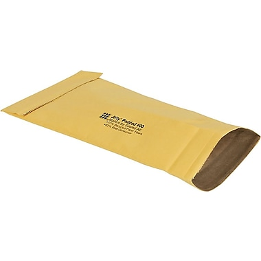 Staples® No Seal #00 Padded Mailer, Gold Kraft, 4-3/8
