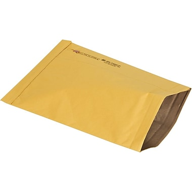 Staples No Seal #5 Padded Mailer, Gold Kraft, 10-3/8