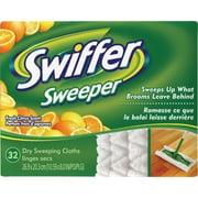 Swiffer – Linges secs de rechange, parfum d'agrumes frais, 32 feuilles