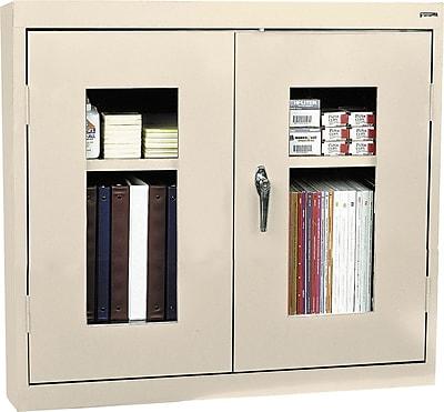 Sandusky Clear View Double Door Cabinet, Putty
