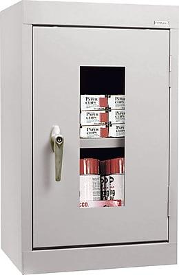 Sandusky Clear View Single Door Cabinet, Dove Gray