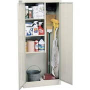 "Sandusky Janitorial Supply Cabinet, 66""H x 30""W x 15""D, Putty"
