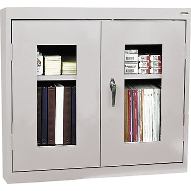 Sandusky Clear View Double Door Cabinet, Dove Gray