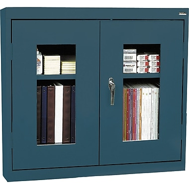 Sandusky Clear View Double Door Cabinet, Charcoal