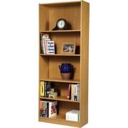 """Staples® Hayden™ Oak Finish Bookcase, 5-Shelf, 72"""""""