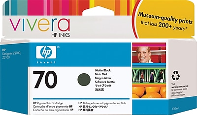 HP 70 130-ml Matte Black Ink Cartridge (C9448A)