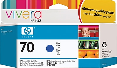 HP 70 Blue Ink Cartridge (C9458A)