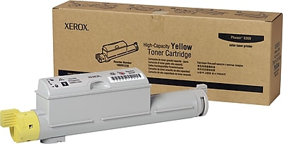 Xerox Phaser 6360 Yellow Toner Cartridge (106R01220), High Yield