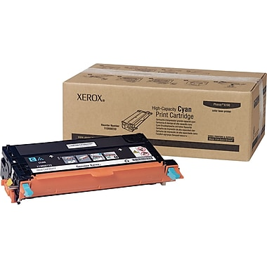 Xerox 113R00723 Cyan Toner Cartridge, High Yield