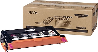 Xerox Phaser 6180/6180MFP Magenta Toner Cartridge (113R00724), High Yield