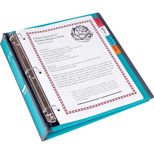 Staples Better 1-Inch D 3-Ring View Binder, Teal (13466-CC