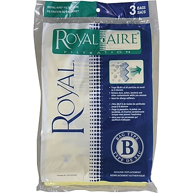 Royal® Type B Micron Vacuum Bags, 3/Pack