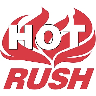 Tape Logic® Shipping Label, Hot Rush, 4