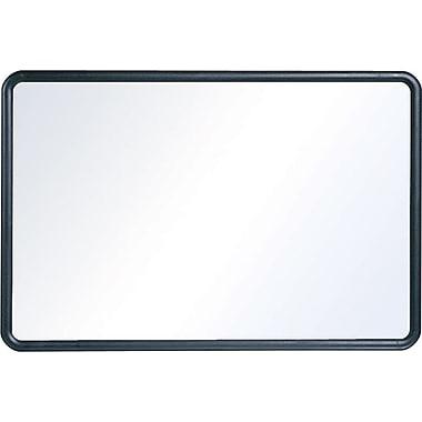 Staples Standard Melamine Whiteboard, Black Plastic Frame, 4'W x 3'H