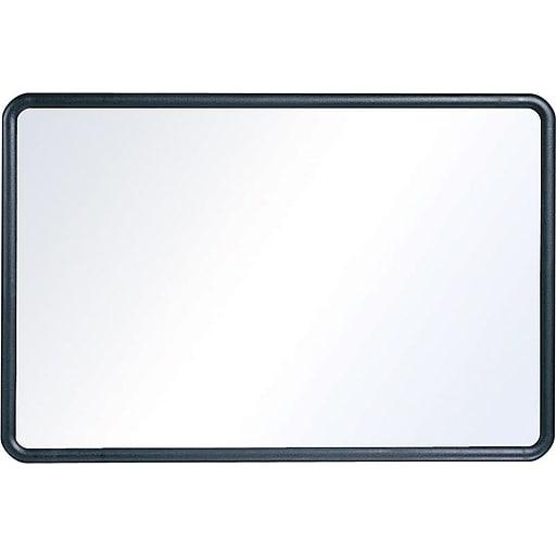 Staples Standard Melamine Whiteboard, Black Plastic Frame, 2'W x 1.5'H