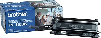 Brother Genuine TN115BK Black High Yield Original Laser Toner Cartridge