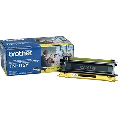 Brother TN115 Yellow Toner Cartridge, High Yield (TN115Y)